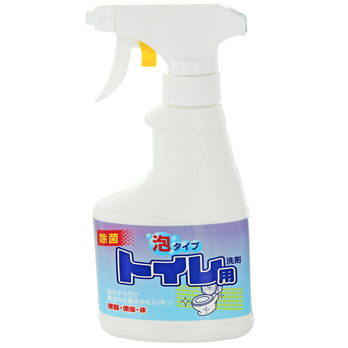 Чистящий спрей Rocket Soap для туалета, 300 мл301505Спрей Rocket Soap предназначен для чистки туалета. Он хорошо пенится и превосходно очищает загрязнения в унитазе, устраняет неприятный запах. Он имеет среднюю щелочность, не содержит хлора и хлористых кислот.Эргономичный флакон оснащен высоконадежным курковым распылителем, позволяющим легко и экономично наносить раствор на загрязненную поверхность. Характеристики:Объем: 300 мл. Производитель:Япония.Товар сертифицирован.Как выбрать качественную бытовую химию, безопасную для природы и людей. Статья OZON Гид