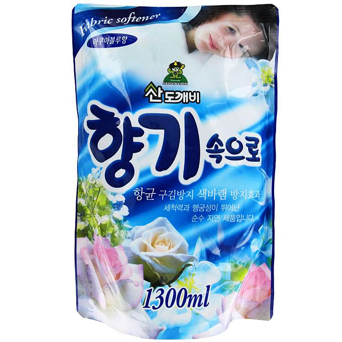 Кондиционер для белья Soft Aroma, концентрированный, аква блу, сменная упаковка, 1,3 л
