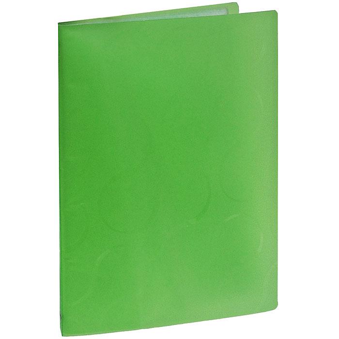 Папка с файлами Omega, 20 листов, цвет: зеленый0410-0032-04Стильная папка Omega с файлами, выполненная из плотного полупрозрачного пластика зеленого цвета, станет незаменимым деловым аксессуаром. Папка оснащена 20 файлами для хранения документов и листов. Каждый файл обладает текстурной поверхностью, которая позволяет легко и быстро его открыть. Декоративный принт на обложке создаст яркий акцент на вашем рабочем столе. Характеристики:Размер папки: 23,5 см х 1,5 см х 30,5 см. Вместимость: 20 файлов. Цвет: зеленый.