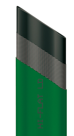 "Шланг ""Hi-Flat LD"", плоский, цвет: зеленый, 35 мм x 50 м"