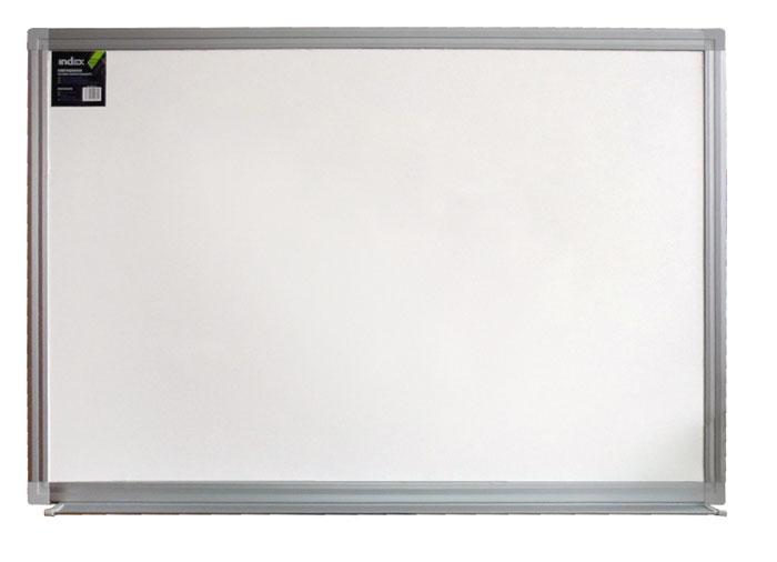 Доска магнитно-маркерная Index, с эмалевой поверхностью, 60 см х 90 смIWB-313Белая магнитно-маркерная доска Index с эмалевой поверхностью будет незаменимым инструментом при проведении презентаций или обучающих занятий, а также удобное средство визуальной коммуникации для офиса. Эмаль - это очень прочное и стойкое к износу покрытие. Такое покрытие можно поцарапать только материалом тверже стекла. Доска окантована алюминиевой рамкой со скругленными пластиковыми углами. Внизу расположен лоток для маркеров по всей длине доски. Характеристики:Размер доски: 60 см x 90 см. Размер упаковки: 61 см x 92 см x 4 см. Изготовитель: Китай.