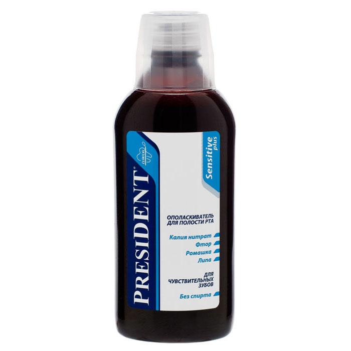 Ополаскиватель для полости рта President Sensitive, 250 мл4310-500289Ополаскиватель для полости рта President Sensitive является эффективным дополнением к зубной пасте для полноценной гигиены полости рта. Уменьшает реакцию на раздражители: горячее-холодное, кислое-сладкое, оказывает противовоспалительное и болеутоляющее действия. Деликатно воздействует на чувствительные ткани, придает длительно ощутимую свежесть дыханию. Характеристики:Объем: 250 мл. Производитель: Италия. Артикул: 4310-500289. Товар сертифицирован.