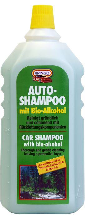 Автошампунь Pingo, концентрированный, 1 л00270-9Концентрированный автошампунь Pingo быстро смачивает и легко удаляет загрязнения с кузова автомобиля, не оказывая вредного воздействия на лакокрасочное покрытие. Шампунь образует обильную пену, благодаря которой грязь и песок не царапают краску в процессе мойки. Спирт, входящий в состав препарата, удаляет даже такие стойкие и трудно выводимые загрязнения, как следы насекомых и почек деревьев. В состав шампуня входят также высококачественные смазывающие добавки, образующие на лакокрасочном покрытии защитную пленку.Очень экономичен в использовании: 25 мл концентрата (4 мерных колпачка) достаточно на 10 л. воды. Характеристики: Вес:1 л. Изготовитель: Россия.