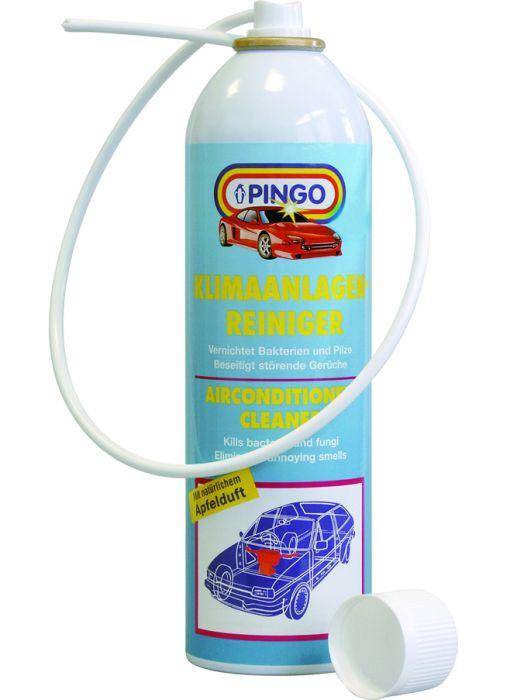 Очиститель кондиционеров Pingo, 300 мл00419-2Очиститель кондиционеров Pingo предназначен для очистки и дезинфекции автомобильных кондиционеров от микробов, болезнетворных бактерий и грибков, которые являются причиной неприятного запаха в салоне автомобиля и источниками простудных и аллергических заболеваний. - Устраняет неприятный запах в салоне автомобиля и придает воздуху аромат свежих яблок. - Благодаря применению средства обеспечивается длительная защита всей системы кондиционирования от повторного заражения. - Препарат очень прост в применении. Для обработки не требуется дополнительного оборудования. - Одной обработки достаточно на весь сезон. Способ применения: Интенсивно встряхните флакон. Выключите кондиционер и систему вентиляции. Вставьте трубку в воздуховоды системы вентиляции, диагностическое окно или трубку слива водяного конденсата. Распылите содержимое флакона. Время действия дезинфицирующего состава - 30 минут. После этого можно включать кондиционер. Характеристики:Объем:300 мл.Производитель: Германия.Артикул: 00419-2.