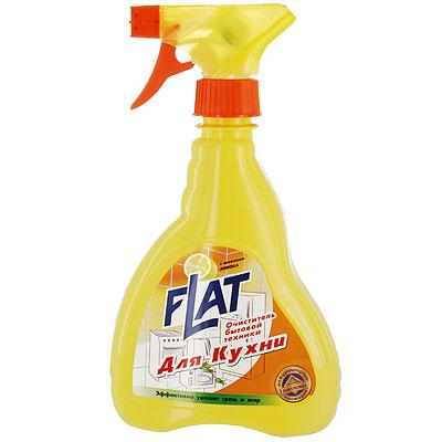 Очиститель Flat для кухонной бытовой техники, с ароматом лимона, 480 г очиститель flat для ковров и мягкой мебели с ароматом лимона 480 г