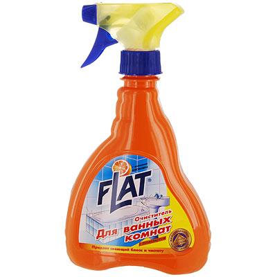 Очиститель для ванных комнат Flat, с ароматом апельсина, 480 г4600296000294Очиститель ванной комнаты идеален для интенсивной чистки ванн, в том числе джакузи, кранов, кафеля, душевых кабин и занавесок, любых стеклянных, пластиковых и акриловых изделий, а также для чистки сиденья туалета. Создает невидимую пленку, препятствующую дальнейшему загрязнению. Не оставляет царапин, смывается легко и быстро. Формула блеска основательно и быстро удаляет остатки мыла, жировые, известковые и другие загрязнения. Характеристики:Вес: 480 г. Производитель: Россия.
