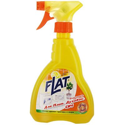 Очиститель Flat для плит, духовок, СВЧ, с ароматом лимона, 480 г бытовая химия мистер чистер средство для чистки духовок и микроволновых печей 500 мл