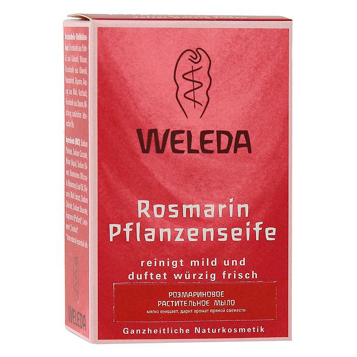 Мыло растительное Weleda Rosmarin, 100 г9882Растительное мыло Weleda оживляет кожу, очищает и ухаживает за ней. Образует нежную, как крем, пену.Особенно подходит для применения утром. Бодрящее масло розмарина и смесь других масел придают мылу освежающий аромат. Розмарин активизирует кровообращение, пробуждая кожу и даря ей оттенок свежести и здоровья. Характеристики:Вес: 100 г. Размер упаковки: 8,5 см х 5,5 см х 3 см. Производитель: Франция. Артикул: 9882. Товар сертифицирован.
