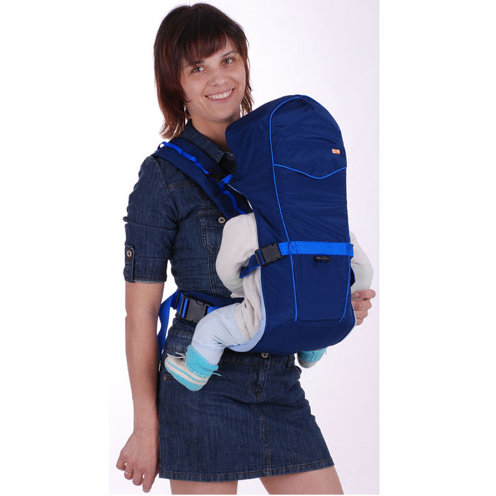 "Рюкзак-кенгуру ""BabyActive Simple"", цвет: синий, Чудо-Чадо"