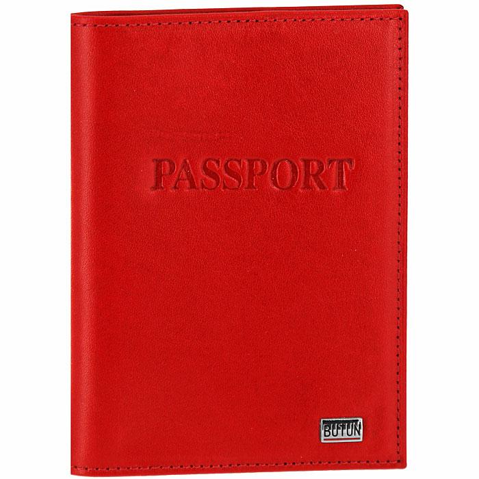 мужские сумки butun Обложка для паспорта Butun, цвет: красный. 147-001 006