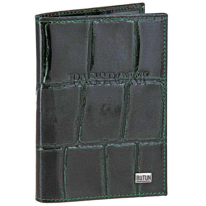 мужские сумки butun Обложка для паспорта Butun, цвет: темно-зеленый. 147-007 024