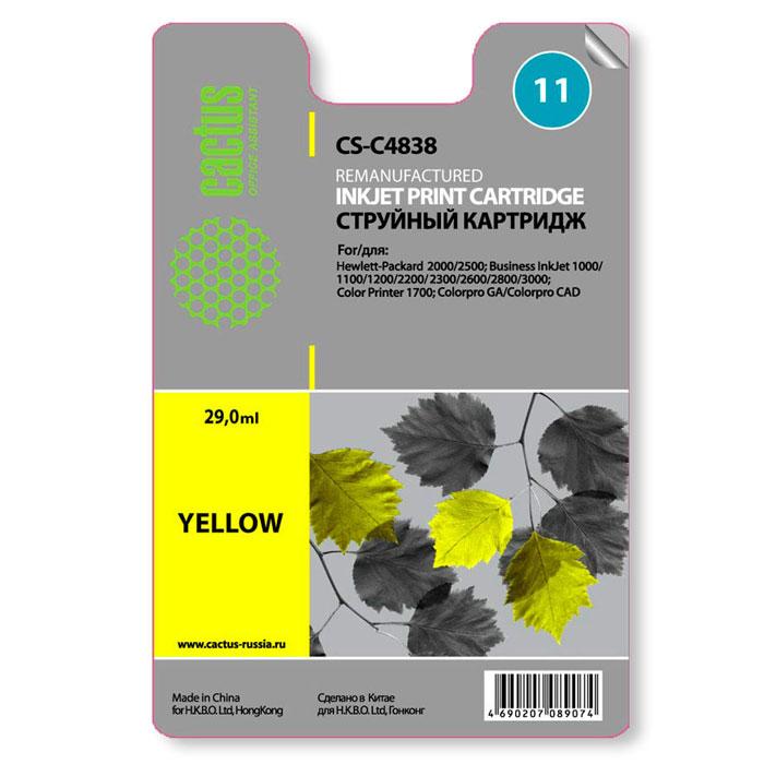 Cactus CS-C4838 №11 yellow для HPCS-C4838Картридж Cactus №11 для струйных принтеров HP.