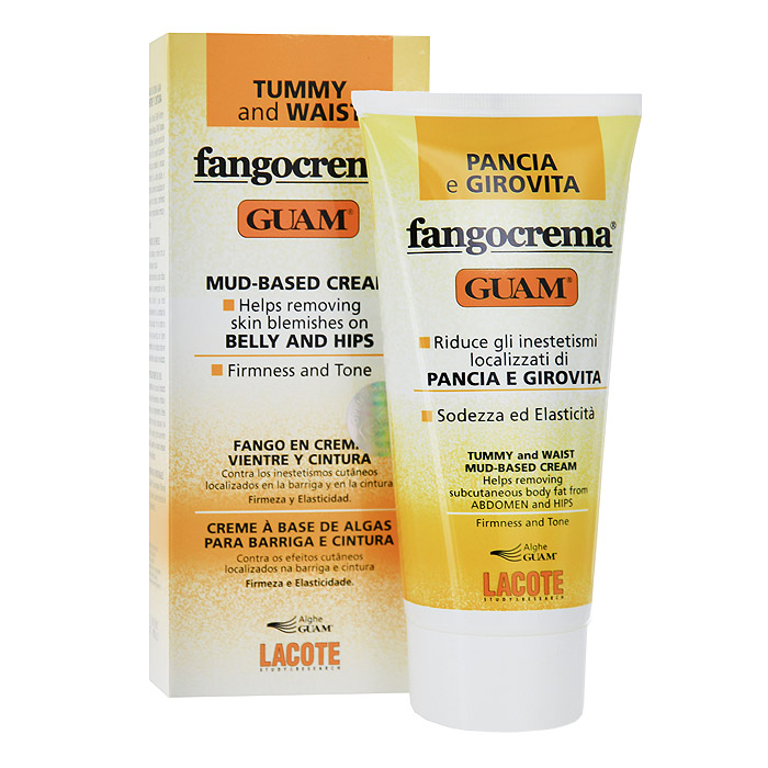 Крем Guam Fangocrema для живота и талии, с разогревающим эффектом, 150 мл1659Крем Lacote Fangocrema стимулирует расщепление жиров и уменьшает объем живота и талии. Эффективно предотвращает появление избыточных жировых отложений и прекрасно подтягивает кожу. Интенсивная формула на основе вулканической пыли, метилникотината и морской воды, водорослей и фитокомплекса стройности.Применение: наносить на чистую кожу похлопывающими движениями до полного впитывания. Избегать контакта со слизистыми. Характеристики:Объем: 150 мл. Производитель: Италия.Артикул:0510.Товар сертифицирован.