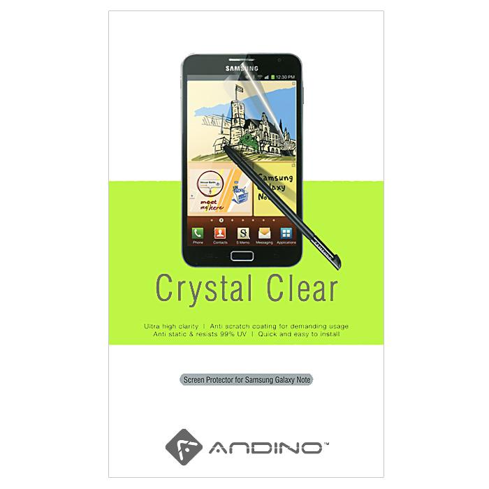 Andino защитная пленка для Samsung Note, глянцевая4607160936185Защитная пленка Andino защитит Ваш смартфон Samsung Galaxy Note от пыли, грязи и царапин.