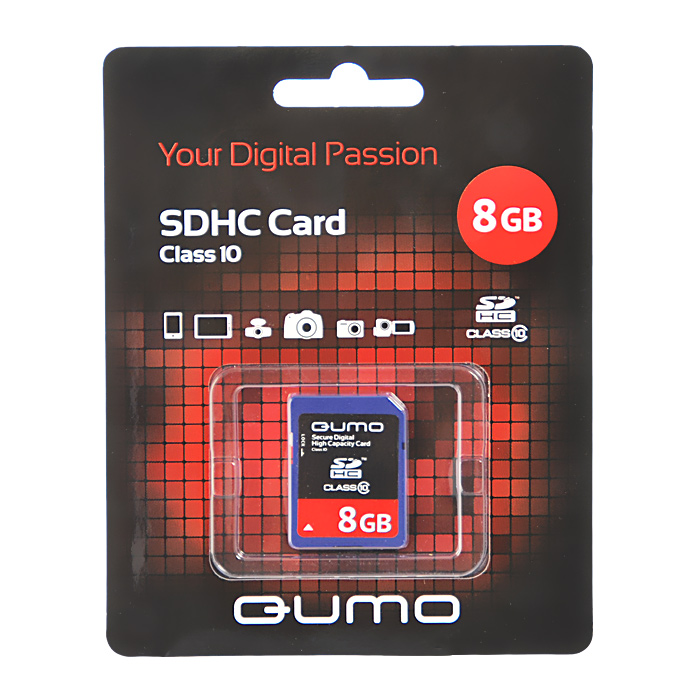 QUMO SDHC Class 10 8GB карта памяти