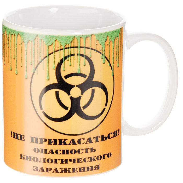 Кружка Биологическое заражение93475Кружка Биологическое заражение, выполненная из высококачественной керамики, станет отличным подарком для человека, ценящего забавные и практичные подарки. Кружка оформлена изображением знака биологической опасности и надписью !Не прикасаться! Опасность биологического заражения. Такой подарок станет не только приятным, но и практичным сувениром: кружка станет незаменимым атрибутом чаепития, а оригинальный дизайн вызовет улыбку. Характеристики:Материал:керамика. Высота кружки:9,5 см. Диаметр по верхнему краю: 8 см. Размер упаковки:10,5 см х 10 см х 10 см. Изготовитель:Китай. Артикул: 93475.