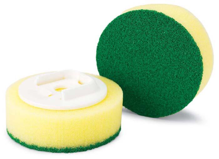 Губка Libman сменная, 2 шт. 0104801048Сменная губка Libman круглой формы выполнена из полиэстера с абразивным волокном. Губка прекрасно очищает сильные загрязнения, не царапая поверхность. В комплекте 2 губки.Характеристики: Материал: пластмасса, полиэстер, абразив. Диаметр губки: 7,5 см. Комплектация: 2 шт. Артикул: 01048.Компания Libman основана в 1896 году выходцем из Латвии Вильемом Либманом, задавшимся целью создавать высококачественные и долговечные изделия для уборки - веники, из сельскохозяйственных отходов и стеблей сорго. Унаследовавшие бизнес, сыновья Вильяма Либмана, не только сохранили компанию во время Великой депрессии, но укрепили и расширили ее. В 1980 году были введены новейшие технологии, позволившие компании стать одной из крупнейших в США по производству уборочного инвентаря.На сегодняшний день Libman - это компания с мировым именем, благодаря высокому качеству и разнообразию уборочного инвентаря, признана потребителями всего мира.