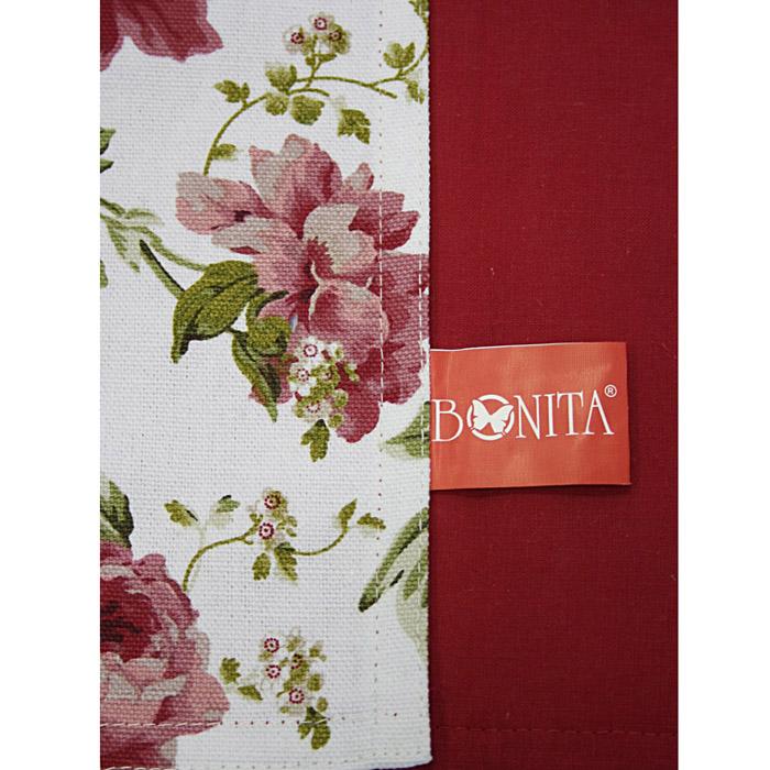 Салфетка Bonita, цвет: красный, 30 см х 45 см1101210124Салфетка Bonita выполнена из натурального хлопка. Поверхность салфетки с одной стороны красного цвета, с другой стороны оформлена цветочным рисунком. Такая салфетка защитит ваш стол от воздействия горячей посуды и станет оригинальным дополнением интерьера. Характеристики:Материал: 100% хлопок. Цвет: красный.Размер салфетки: 30 см х 45 см. Изготовитель: Китай. Артикул: 1101210124. Уют на кухне это предмет заботы специалистов, создающих текстиль для кухни Bonita. Кухня, столовая, гостиная - то место в доме, где хочется собраться всем вместе, ощутить радость и уют. И немалая доля этого уюта зависит от подобранных под вашу мебель, и что уж говорить, под ваше настроение - полотенец, скатертей, салфеток и прочих милых мелочей. Bonita предлагает коллекции готовых стилистических решений для различной кухонной мебели, множество видов, рисунков и цветов. Вам легко будет создать нужную атмосферу на кухне и в столовой с товарами Bonita.
