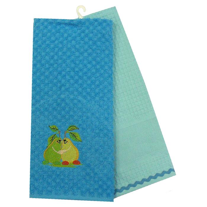 """Набор полотенец Bonita """"Груша"""", цвет: бирюзовый, 45 х 70 см, 2 шт"""