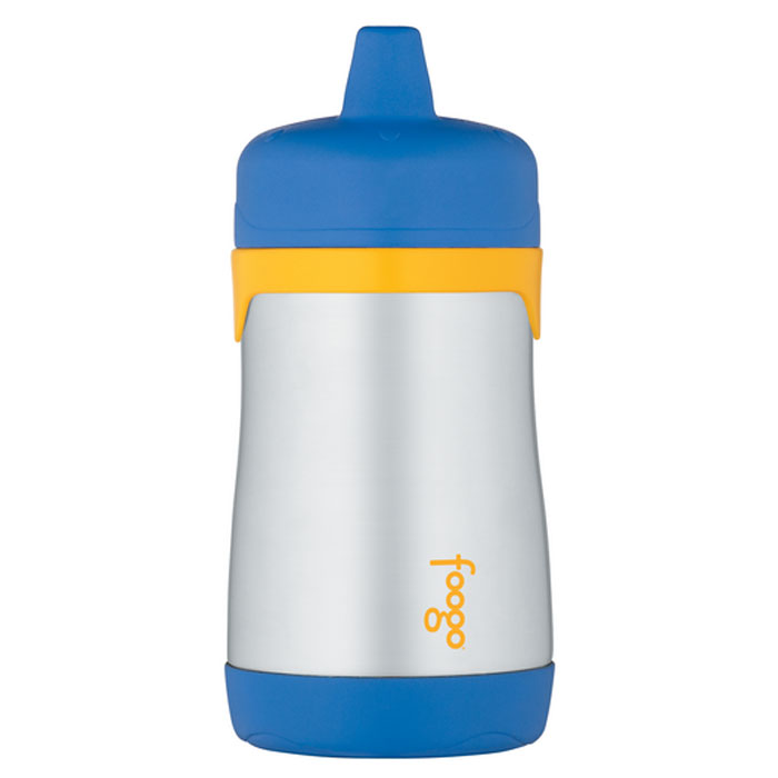 Термос-поильник Phases Foogo с твердым носиком, цвет: синий, желтый, 290 мл phases foogo 325