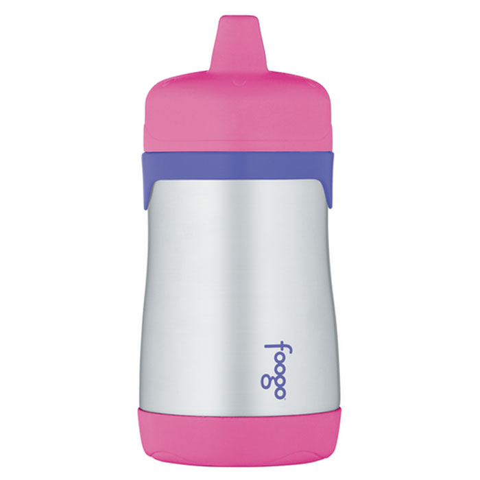 Термос-поильник Phases Foogo с твердым носиком, цвет: розовый, сиреневый, 290 мл phases foogo 325