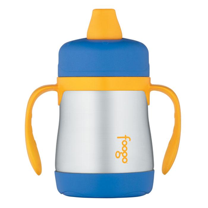 Термос-поильник Phases Foogo с мягким носиком и ручками, цвет: синий, желтый, 200 мл phases foogo 325