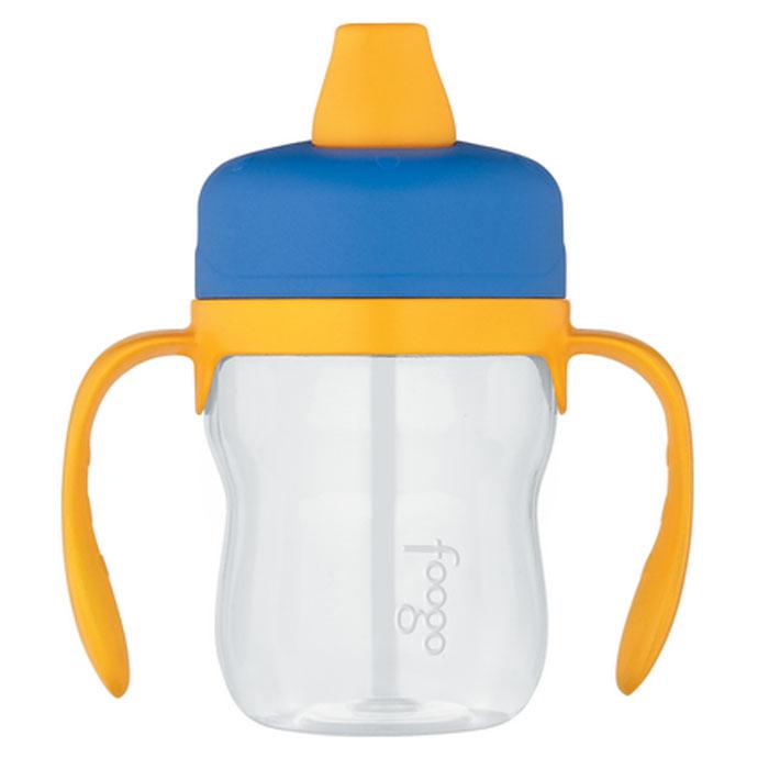 """Поильник Phases """"Foogo"""", с мягким носиком и ручками, цвет: синий, желтый, 235 мл, Thermos"""
