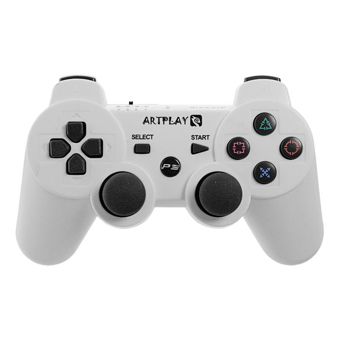 Беспроводной игровой контроллер ARTPLAYS для PlayStation 3 (белый) - Геймпады, джойстики, рули