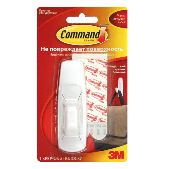 Легкоудаляемый крючок Command, большой, до 2,25 кг легкоудаляемый крючок command большой до 2 кг