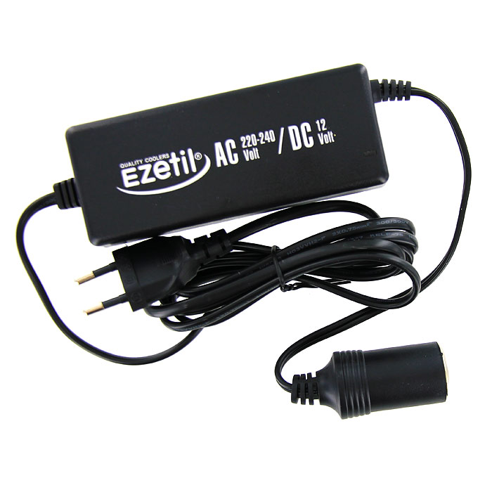 Адаптер сети переменного тока Ezetil для подключения автомобильных холодильников879920Адаптер сети переменного тока Ezetil предназначен для подключения 12-ти вольтовых портативных холодильников к сети 220-240 В.Характеристики:Материал: пластик. Размер адаптера (без учета шнура):13 см х 5 см х 3,5 см. Входное напряжение: 220-240 В. Выходное напряжение:12 В. Выходной ток:6,0 А. Эффективность:>87%. Входная мощность:82 Вт. Выходная мощность:72 Вт.Вес: 350 г. Производитель: Германия. Изготовитель:Китай. Артикул: BSB2. Прилагается инструкция по эксплуатации на нескольких языках, в том числе на русском языке.