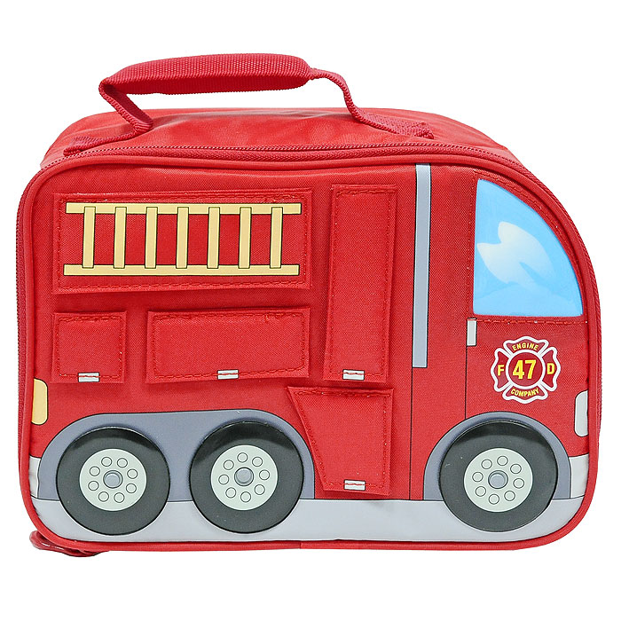 """Сумка-термос Lunch Kit """"Firetruck"""" для ланча, детская, цвет: красный"""