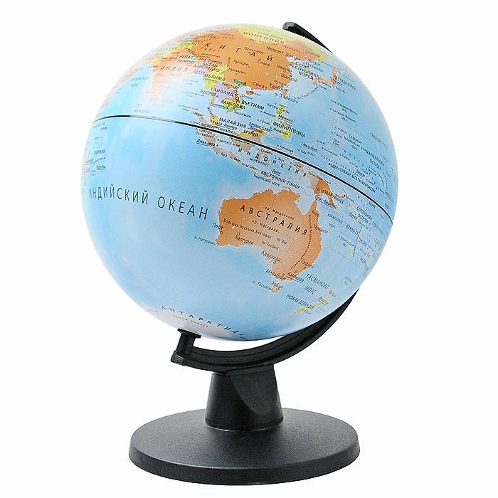 Глобус  Tecnodidattica , с политической картой мира, диаметр 16 см -  Глобусы