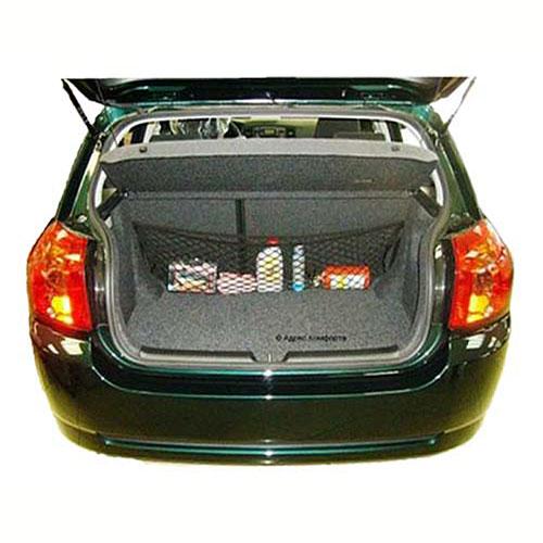 Сетка-карман в багажник Comfort Adress, 90-140 см х 30 смset 003Автомобильная сетка в багажник Comfort Adress позволяет избавиться от бардака в багажнике, возникающего в процессе перевоза различных предметов. Удобство сетки в автомобиль доказано. Установить автомобильную сетку-карман сможет любой водитель. Сетка снабжена двумя металлическими крючками для крепления. Длину сетки можно регулировать.Одной из особенностей багажной сетки является возможность вертикального хранения предметов. Сетка очень вместительна, поэтому снимается вопрос о перевозе большого количества предметов, которые вечно болтаются в багажнике. Карман, пожалуй, самая известная часть одежды. Карман - это практично, удобно, вместительно. Если люди имеют карманы, то почему машине его не иметь, ведь это так удобно! Сетки-карман выпускается в двух модификациях. Основное различие между ними это длина. Остается только выбрать нужный размер и наслаждаться, что все лежит хорошо и не мешается. Характеристики: Материал: 100% полипропилен, металл. Длина сетки: 90-140 см. Высота сетки: 30 см. Цвет: черный. Производитель: Россия. Артикул: set 003.