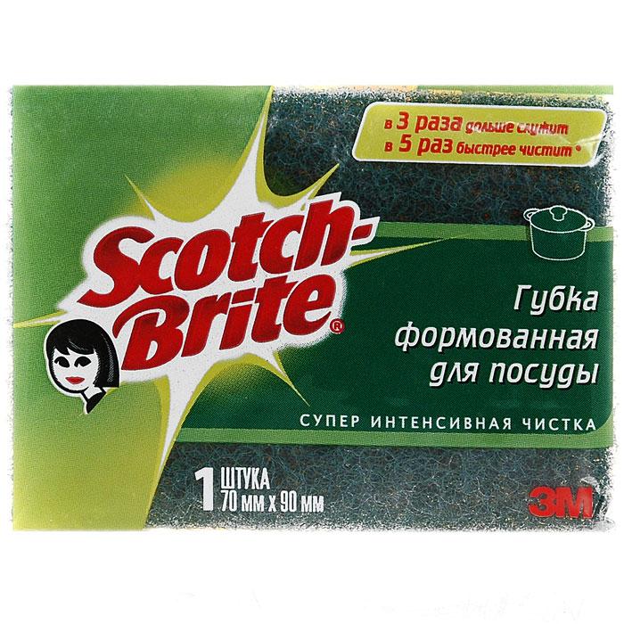 Губка для посуды Scotch-Brite формованная, 7 x 9 см11004Губка Scotch-Brite предназначена для мытья посуды. Лучшая губка для вашей кухни! Идеально удаляет жир, грязь и пригоревшую пищу. Отлично подходит как для посуды, так и для любой другой поверхности. Для удобства применения с одной стороны губки нанесен абразивный слой. Губка сохраняет чистоту и свежесть даже после многократного применения, а ее эргономичная форма удобна для руки. Характеристики: Материал: сложные полимеры. Размер: 9 см х 7 см х 4,5 см. Изготовитель:Россия.