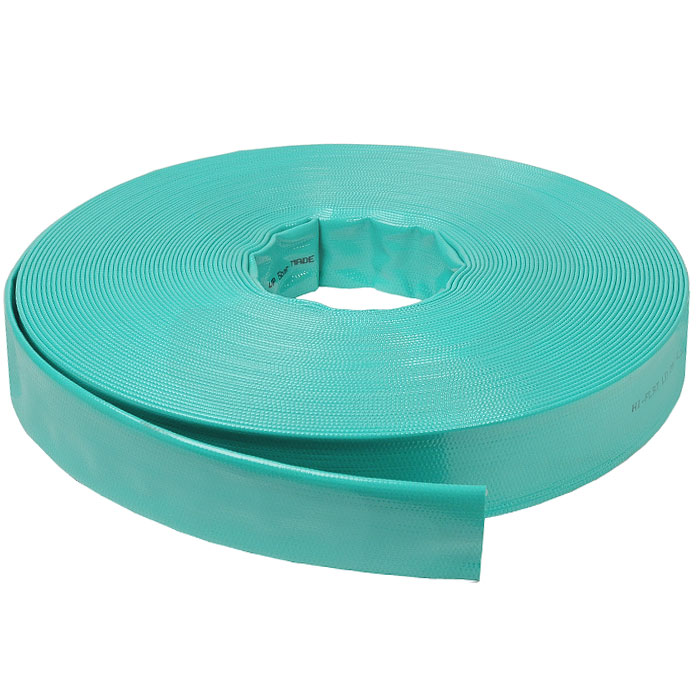 Шланг Hi-Flat LD, плоский, цвет: зеленый, 40 мм x 50 м3717234, 70111.63150.59007Плоский непрозрачный шланг Hi-Flat LD зеленого цвета изготовлен из ПВХ и армирован капроновой нитью. Шланг предназначен для транспортировки непищевой воды под давлением до 4 бар. Обладает высокой прочностью. Рабочая температура от -10°С до +50°С. Характеристики:Материал:ПВХ. Длина шланга:50 м. Диаметр шланга:40 мм. Максимальное давление:4 бар. Размер упаковки: 48,5 см х 7 см. Производитель:Италия. Артикул:3717234.