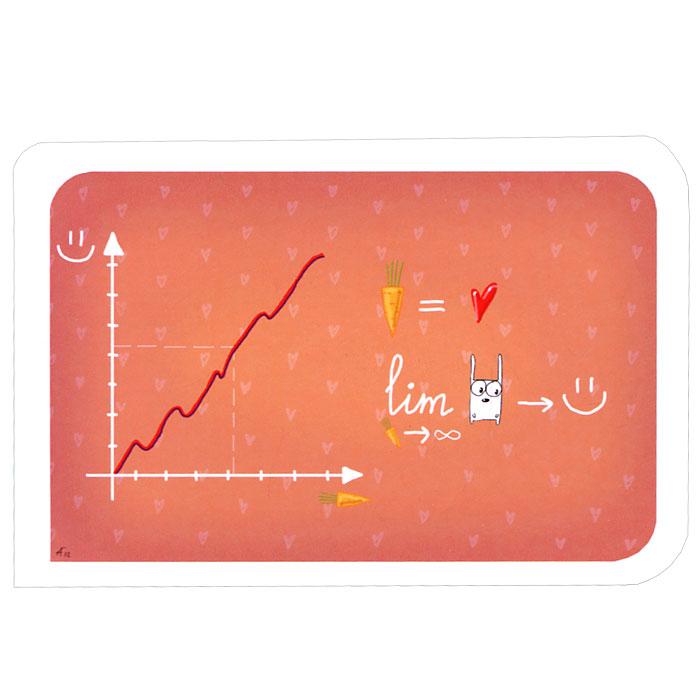 Открытка Занимательная алгебра. Ручная авторская работа. OT009ot-9Авторская открытка станет необычным и ярким дополнением к подарку дорогому и близкому вам человеку или просто добавит красок в серые будни. Открытка оформлена изображением забавных алгебраических выражений и графика. Обратная сторона открытки не содержит текста, что позволит вам самостоятельно написать самые теплые и искренние пожелания.К открытке прилагается бумажный конверт. Характеристики: Размер:15 см х 10 см. Материал: бумага. Артикул: Ot-9.