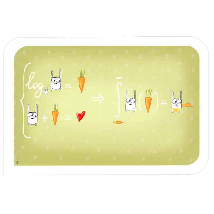 Открытка Занимательная алгебра. Ручная авторская работа. OT008ot-8Авторская открытка станет необычным и ярким дополнением к подарку дорогому и близкому вам человеку или просто добавит красок в серые будни. Открытка оформлена изображением забавных алгебраических выражений. Обратная сторона открытки не содержит текста, что позволит вам самостоятельно написать самые теплые и искренние пожелания.К открытке прилагается бумажный конверт. Характеристики: Размер:15 см х 10 см. Материал: бумага. Артикул: Ot-8.