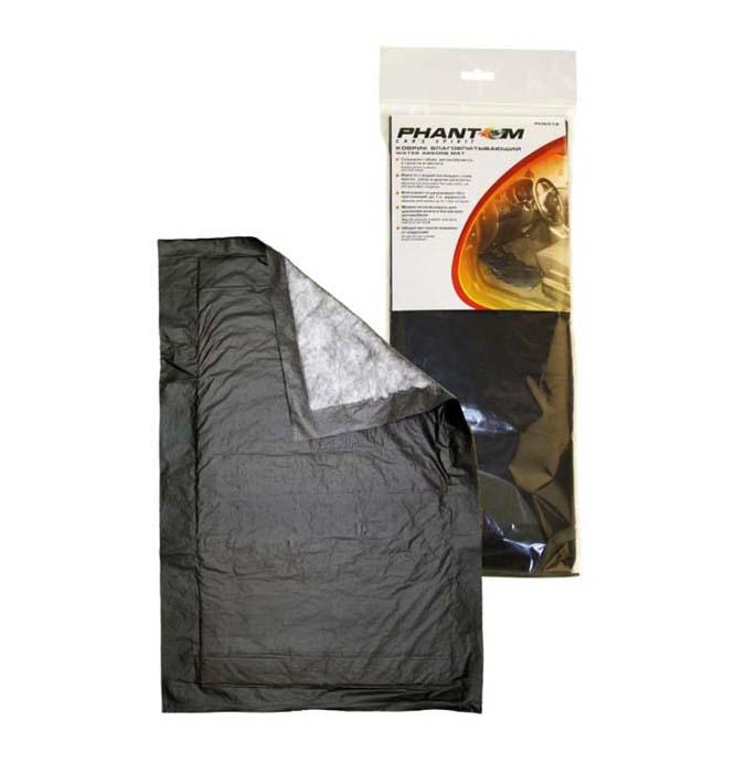 Коврик влаговпитывающий Phantom, 2 шт. (ОДНОРАЗОВЫЙ)6012Влаговпитывающий коврик Phantom предназначен для использования вместе со штатными ковриками и представляет собой многослойное изделие: - Верхний слой - мягкий нетканый материал. - Впитывающий слой - суперабсорбент - состоит из многослойной распущенной целлюлозы, обеспечивает максимально быстрое впитывание влаги и грязи и ее равномерное распределение по всему внутреннему слою коврика. Этот слой также препятствует появлению неприятного запаха в автомобиле и нейтрализует его. - Нижний слой - непропускающая влагу нескользящая полиэтиленовая пленка. Особенности влаговпитывающего коврика Phantom:Сохраняет обувь автомобилиста в сухости и чистоте.Вместе с водой поглощает соли, масло, грязь и другие реагенты.Впитывает и удерживает без протеканий до 1 л жидкости.Можно использовать для удаления влаги в багажнике.Оберегает кузов машины от коррозии. Характеристики:Материал: полипропилен, распущенная целлюлоза, полиэтилен. Размер коврика: 40 см х 60 см. Комплектация: 2 шт. Производитель:Россия. Артикул:PH6012.
