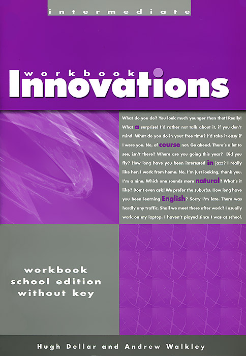 Innovations Intermed-Workbook without Answer Key laser a1 workbook without key cd
