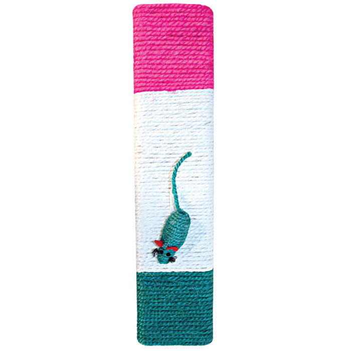 Когтеточка Triol, с мышкой, 46 см х 10 смКк-04210Когтеточка Triol выполнена из сизаля в виде доски. К когтеточке при помощи резинки крепится игрушечная мышка.Всем кошкам необходимо стачивать когти. Когтеточка - один из самых необходимых аксессуаров для кошки. Когтеточка должна висеть на такой высоте, чтобы кошка могла встать на задние лапы и вытянуть наверх передние. Для приучения к когтеточке можно натереть ее сухой валерьянкой или кошачьей мятой.Когтеточка Triol поможет вашему любимцу стачивать когти и при этом не портить вашу мебель.Характеристики:Материал: сизаль, плюш.Размер: 46 см х 10 см.Артикул: Кк-04210.