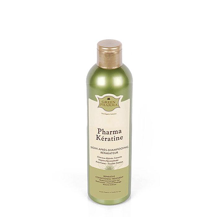Кондиционер-ополаскиватель Greenpharma Pharma Keratine восстанавливающий, с растительным кератином и церамидами, для поврежденных и ослабленных волос, 300 мл ge pharma jetfire в одессе