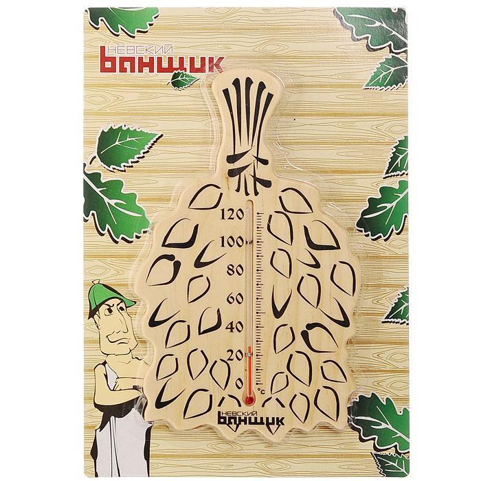 Термометр для бани и сауны Веничек, спиртовойБ-11584Спиртовой термометр для бани и сауны Веничек оригинальной формы покажет температуру и не останется незамеченным для посетителей бани. Термометр изготовлен из дерева и выполнен в форме банного веника. Максимальная измеряемая температура - 120 градусов. Термометр Веничек не только покажет температуру в бане, но и украсит ее своим оригинальным дизайном. Характеристики:Материал: дерево. Размер термометра: 25 см х 15 см х 1 см. Размер упаковки: 31,5 см х 21 см х 1,5 см. Изготовитель: Китай. Артикул: Б-11584.