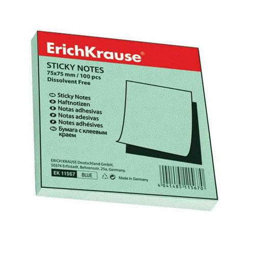 Бумага для заметок Erich Krause, с липким слоем, цвет: зеленый, 100 листов, 7,5 см х 7,5 см11566Бумага для заметок Erich Krause- эффективный офисный инструмент, позволяющий рационально организовать работу, используя разнообразные цвета для обозначения дел разной важности. Листы выполнены из цветной чистоцеллюлозной бумаги самого высокого качества, их можно наклеивать на любую гладкую поверхность, без опасения оставить след от клея.А яркие листочки помимо важной информации передадут Вашу радость и отличное настроение! Характеристики: Цвет: зеленый. Размер листа:7,5 см х 7,5 см. Количество: 100 листов.