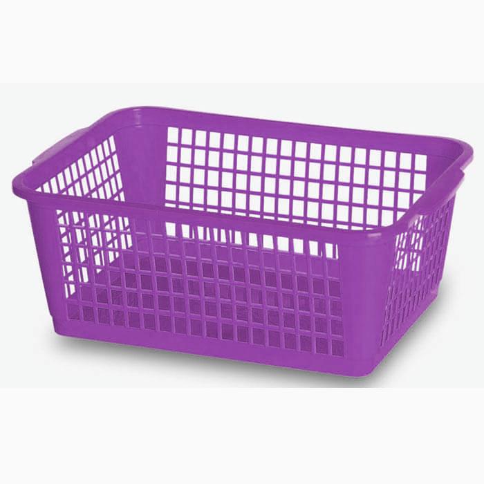 Корзина Gensini,цвет: фиолетовый,26 л3308Универсальная корзина Gensini, выполненная из полипропилена, предназначена для хранения мелочей в ванной, на кухне, даче или гараже. Позволяет хранить мелкие вещи, исключая возможность их потери. Легкая воздушная корзина с жесткой кромкой, с узором из отверстий в форме прямоугольников. Размер корзины (ДхШхВ): 45 см х 31,5 см х 18 см.