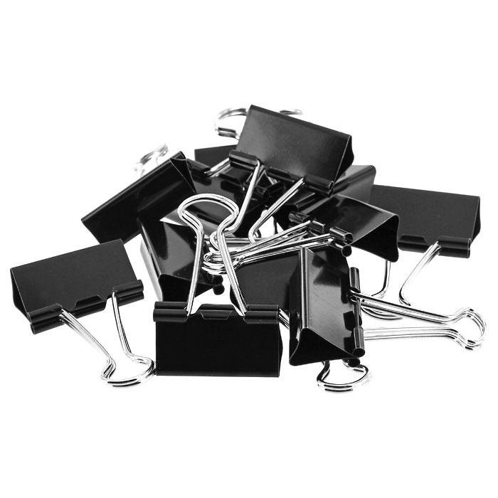 Зажимы для бумаг  Erich Krause , цвет: черный, 51 мм, 12 шт -  Скрепки, кнопки, зажимы