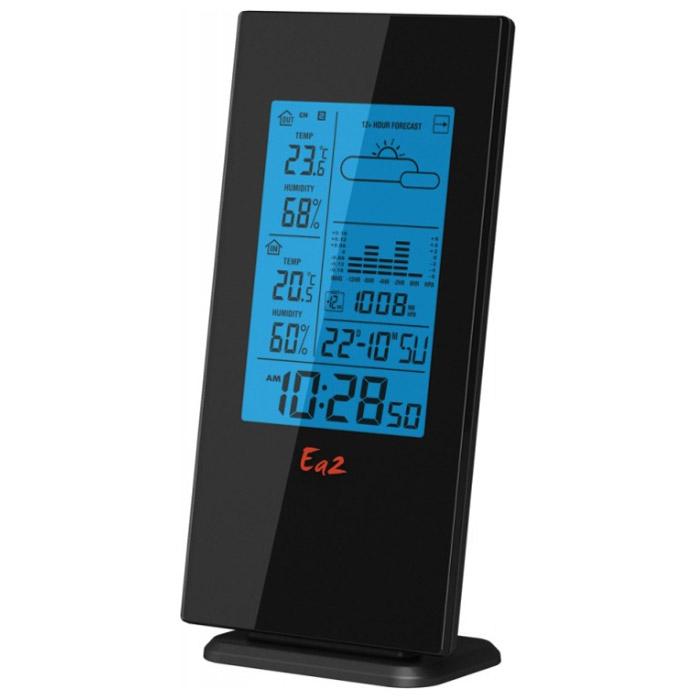 Ea2 BL508 погодная станцияBL508Метеостанция Ea2 BL508 с беспроводным внешним датчиком и функцией прогноза погоды.Прогноз погодыСохранение температурных значенийКалендарьВыносной датчик: беспроводной, радиус приема 30 мМаксимальное число датчиков: 3Индикация уровня зарядаНастенное креплениеЗвуковая индикацияПитание: 3 х ААА (основной блок), 2 х ААА (датчик)