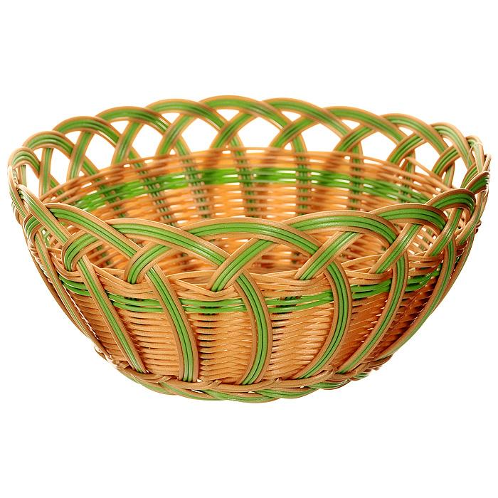 Корзинка плетеная Oriental Way Мульти, круглая. Диаметр 24 смMJ-PP020BRGRПлетеная корзинка Oriental Way Мульти изготовлена из устойчивого к воздействию окружающей среды полипропилена. Идеально подходит для хранения выпечки, конфет, фруктов, косметики, рукоделия и оформления подарков. Срок эксплуатации корзины может составлять десятки лет. Она не требует тщательного ухода, не впитывает запахи, не боится воды и не разрушается от перепада температур. Плетеная корзинка Oriental Way Мульти отлично впишется в интерьер вашего дома. Характеристики:Материал: полипропилен. Диаметр корзинки: 24 см. Высота корзинки: 12 см. Производитель: Китай. Артикул: MJ-PP020BRGR.