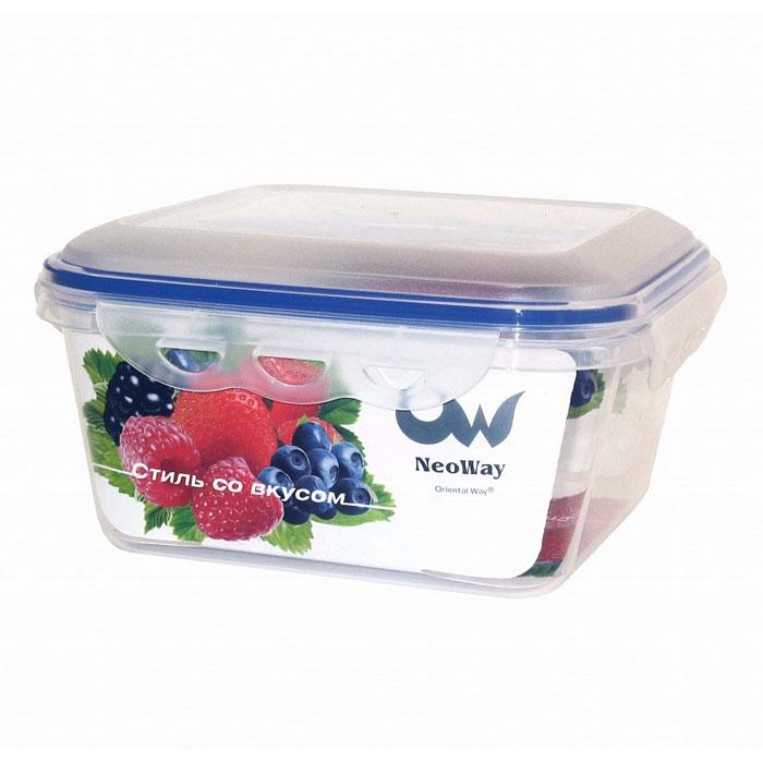 """Квадратный контейнер для СВЧ NeoWay """"Enjoy"""", выполненный из высококачественного пластика, это удобная и легкая тара для хранения и транспортировки бутербродов, порционных салатов, мяса или рыбы, горячих и холодных блюд, даже жидких продуктов. Контейнер 100% герметичен. Крышка оснащена четырьмя специальными защелками и силиконовым уплотнителем. Клипсы (защелки) позволяют произвести защелкивание более чем 400000 раз. Пустотелый силиконовый уплотнитель имеет большую гибкость и лучшее прилегание. Контейнеры могут быть вставлены один в другой, что позволяет сэкономить много пространства.  Контейнер для СВЧ NeoWay """"Enjoy"""" выдерживает температуру в диапазоне от -20°C до +120°C, его можно мыть в посудомоечной машине и нельзя нагревать пустым.     Характеристики:  Материал: пластик. Объем контейнера: 2,8 л. Размер контейнера: 21,5 см х 21,5 см. Высота контейнера (без учета крышки): 8,2 см. Производитель: Китай. Артикул: ZP1026A."""