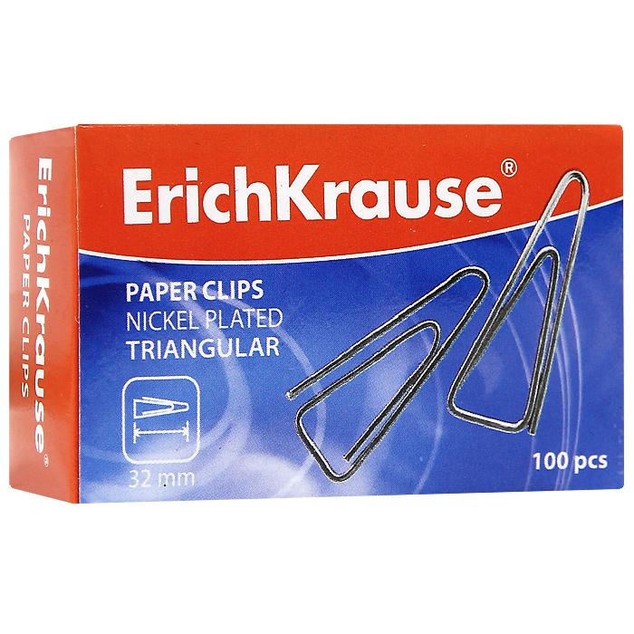 Скрепки никелированные Erich Krause, 32 мм, 100 шт. 2487024870Скрепки Erich Krause - это универсальный офисный инструмент. Скрепки треугольной формы изготовлены из высококачественной металлической проволоки с никелированным покрытием. Не пачкают и не царапают бумагу.Скрепки Erich Krause обеспечат не только надежное скрепление документов и офисных бумаг, но и добавят ярких красок на ваш рабочий стол. Характеристики:Материал: металл. Покрытие: никель. Размер скрепки: 3,2 см x 1 см. Количество: 100 шт. Размер упаковки: 6,5 см x 4 см x 2,5 см. Изготовитель: Китай.