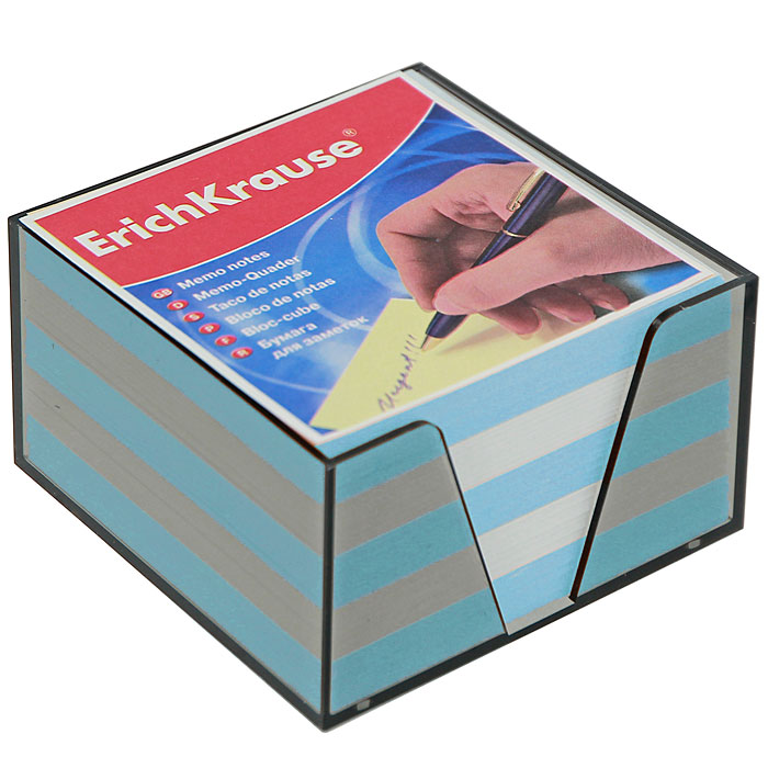 Бумага для заметок Erich Krause, в боксе, цвет: голубой, белый, 9 см x 9 см x 5 см2722Бумага для заметок Erich Krause в боксе - незаменимая вещь, которая помогает организовать пространство на вашем рабочем столе. Лаконичный дизайн и удобство в использовании сделают бумагу для заметок вашим надежным помощником.Для удобства хранения бумаги предусмотрен прозрачный пластиковый бокс, благодаря которому листы не растеряются и сохранят аккуратный вид на всем протяжении использования.Блок содержит бумагу двух цветов: голубого и белого. Характеристики:Материал: бумага, пластик. Размер листа: 9 см x 9 см. Размер блока: 9 см x 9 см x 5 см. Размер бокса: 9,5 см x 9,5 см x 5 см.
